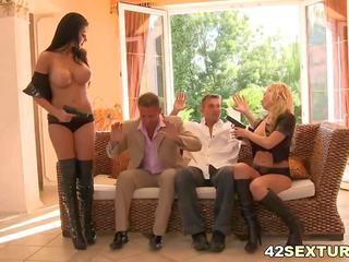 grupu sekss, big boobs, tūpļa