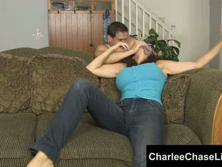 Charlee chase atada tickled y pie follada!