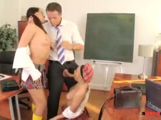 Perverted Professor Scores With 2 Gorgeous Nympho Students