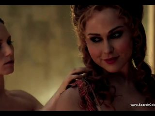 Anna Hutchison And Ayse Tezel Without The Stitch Onto Spartacus