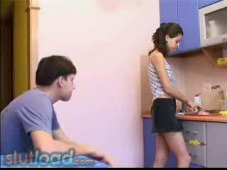 kitchen, amateur, teen