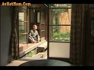japonês, pai, filha