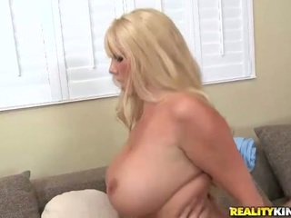 Busty belle Karen Fisher get a stiff pecker