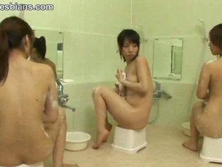 lésbica, adolescente, asiático