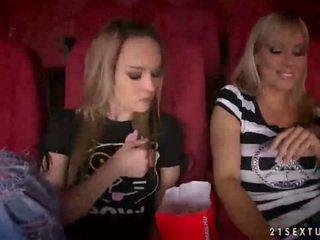 Sandy and Blue Angel having sex in cinema
