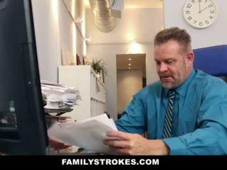 Familystrokes - جزء وقت خطوة ابنة becomes full-time وقحة