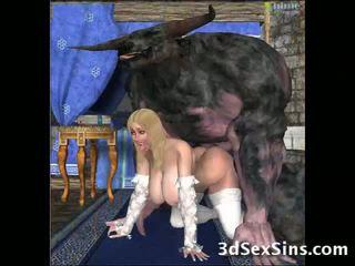 Hässlich creatures fick 3d babes!