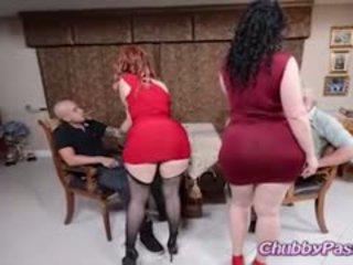 brunette, group sex, big boobs