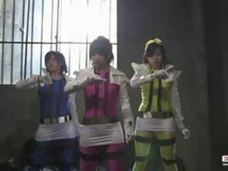 Schattig tiener japans vermogen rangers gets geneukt door de villains