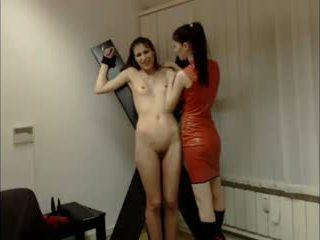 Lésbica domina session em câmara