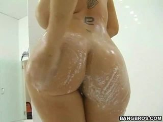 hardcore sex, grote tieten, douche