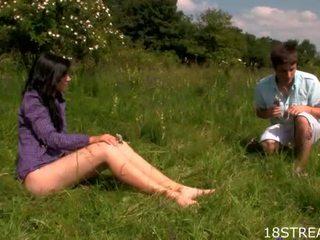 Outdoors čiulpimas ir spooning