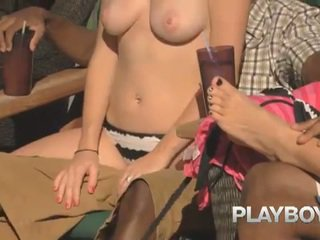 Playboy wingers behind the scenes