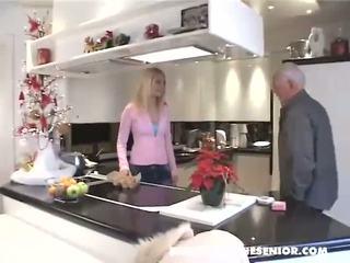 kitchen, old farts, blonde
