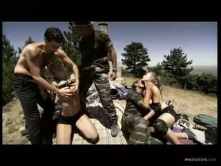 group sex, military, outdoor