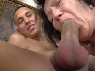 Saggy tetas velho vovó e guy, grátis peluda porno c5