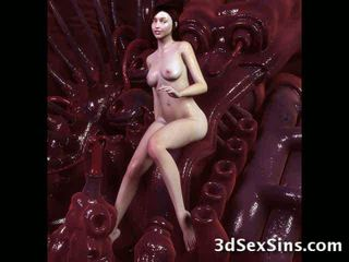 Monsters gutarmak on 3d babes! video