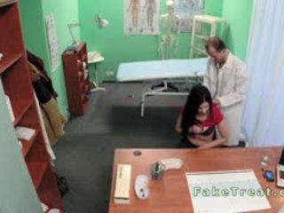 Bent Over Desk Patient Gets Fucked