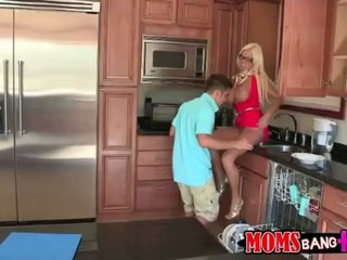 Step son fucks hot girl when home alon...