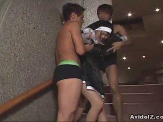 Japansk babe tvang til suge kuk uncensored