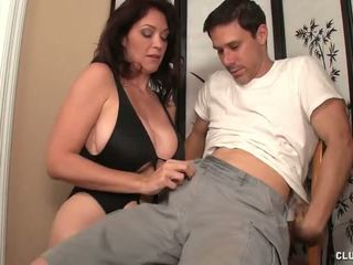 Behave off get jerked off by a milf