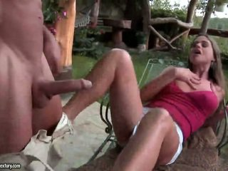 outdoor sex, blowjob, foot fetish