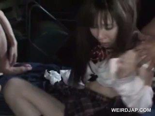 Kidnapped asiatisch mädchen sexually hart rangenommen im gruppe sex