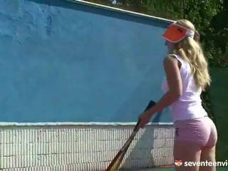 Tennis en masturbation