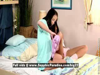 Jess un dara no sapphic eroticalesbian meitenes licking