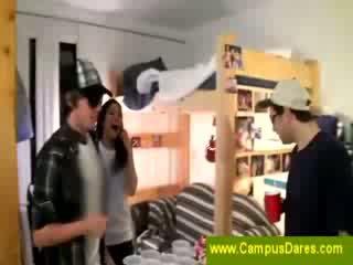 hq college, college meisje, controleren student mov