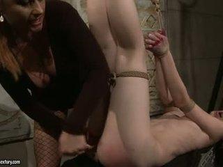 Katy Borman Fake Penis Butt Drill Her Fastened Slave