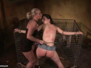 Mistress Kathia Nobili punishing young girl