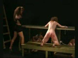 Stubborn ליווי brutally beaten על ידי רשע mistresstrixtrix