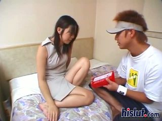 Cute Asian teen gets her hairy beaver rammed