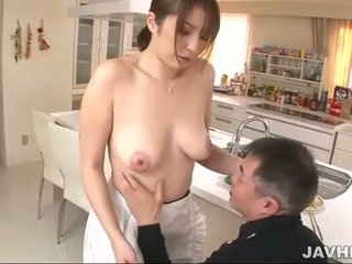 Busty japanese does boobjob