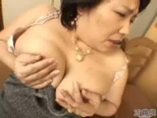 japonês, masturbando, maduro, mamãe