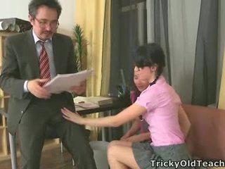 Sexy Ladies Fuck Their Aged Teacher.