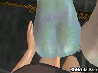 Two 3d aliens babes get fucked by human
