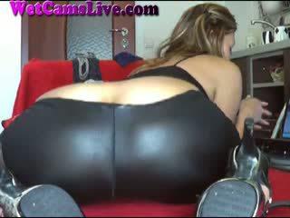 Panas si rambut coklat webcam gadis dubur dildo/ alat mainan seks