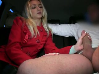 Fake taxi driver cums inside a blonde after a good fuck
