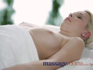 Massage Rooms Big boobs blonde gets oiled up before filthy hardcore fucking