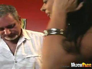 Bubble Butt Bonanza: Brazilian babe Tati filled