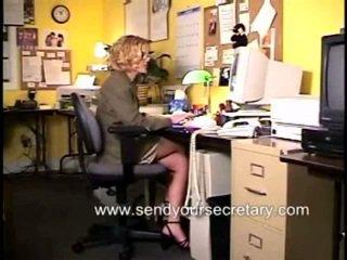 office sex porno, heetste masturbatie, vol secretaresse film