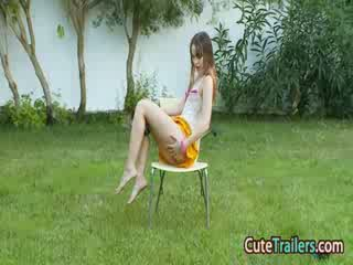 Masturbation and fingering in the grass
