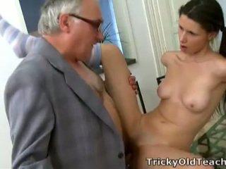 Simona's blowjob of old teacher