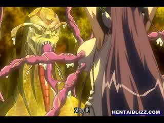 tentacles, girl, cartoon