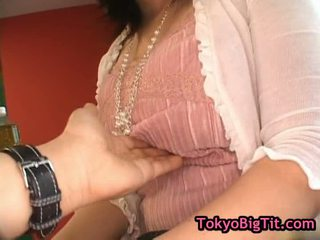 Topless Asian Babe Gets Tits Fondled