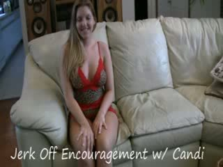 Jerk Off encouragement with Candi Apple