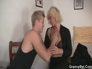 Aged Blonde Takes It Doggystyle