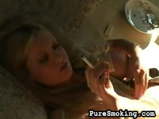 Teen CAndy Smokes And Sperms